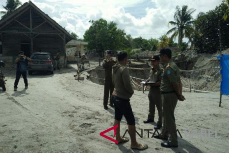 Tim gabungan tertibkan tambang di kawasan Sungai Baturusa