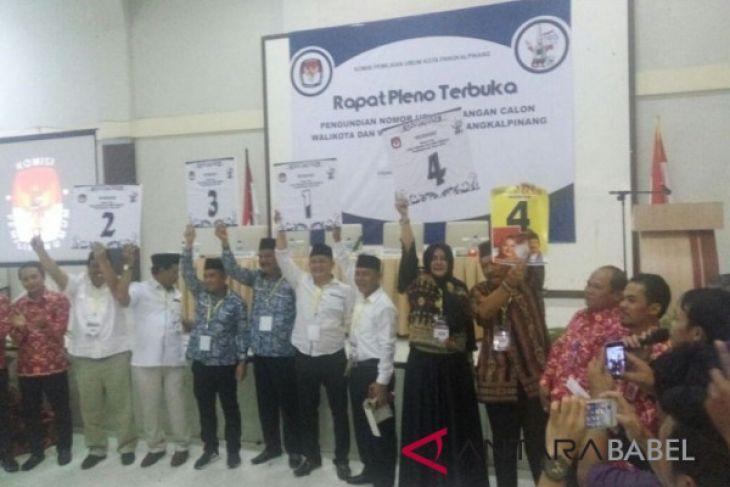 KPU Pangkalpinang tetapkan nomor urut empat calon