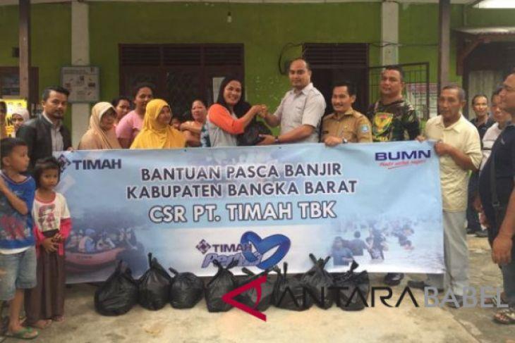 PT Timah membagikan 1.000 sembako korban banjir