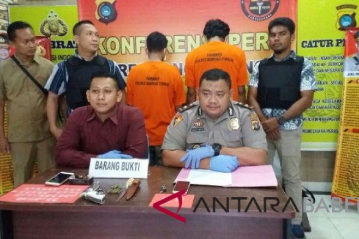 Polisi Bangka Tengah tembak bandar sabu-sabu