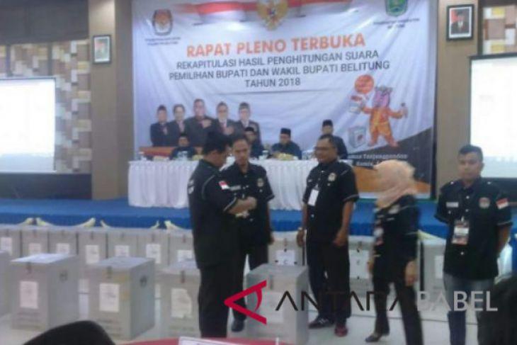 Partisipasi pemilih di Pilkada Belitung mencapai 74,38 persen