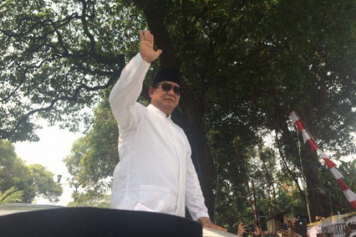 Prabowo Subianto ungkap kejadian unik saat pendaftaran ke KPU Pusat