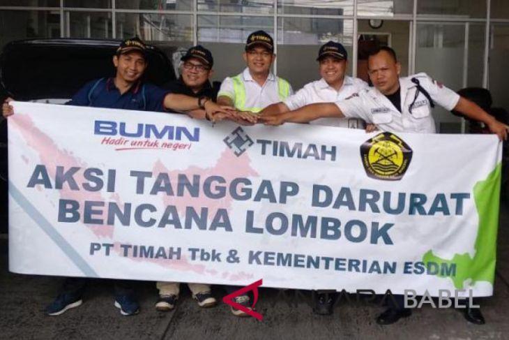 Tim Advance Timah bantu korban gempa Lombok