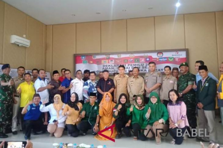 Parpol Bangka Barat gelar deklarasi damai