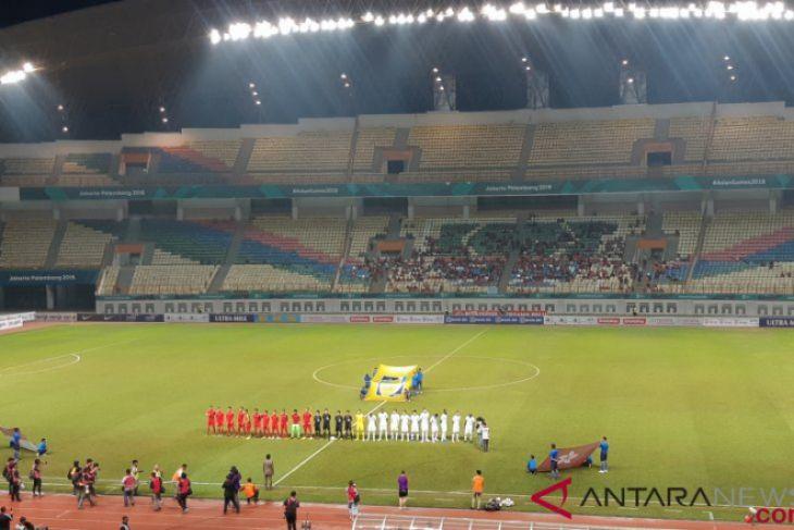 Laga timnas Indonesia melawan Hong Kong berakhir imbang 1-1