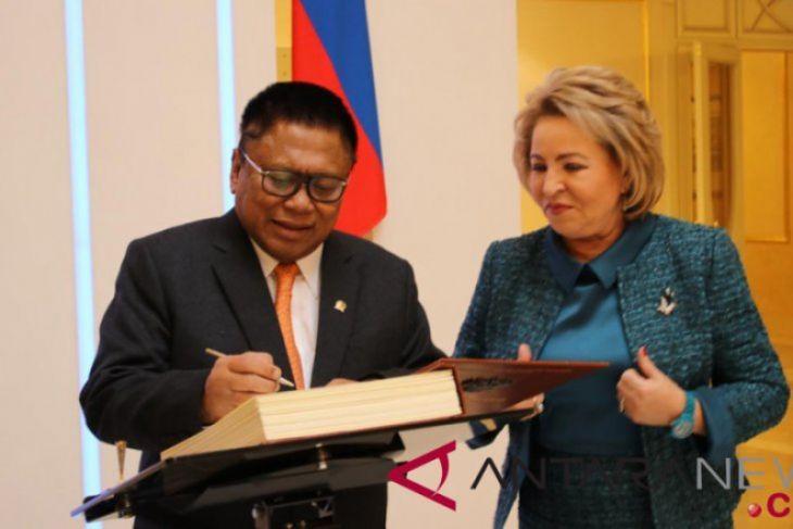 Ketua DPD RI sampaikan pidato di Dewan Federasi Rusia