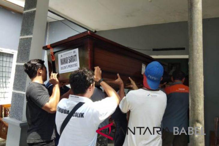 Jenazah Mawar Sariati korban JT610 tiba di Muntok