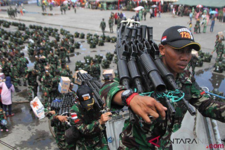 Pemberangkatan Prajurit TNI AD