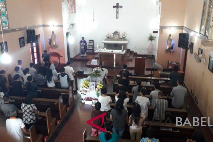 Jenazah korban JT 610 didoakan di Gereja Muntok
