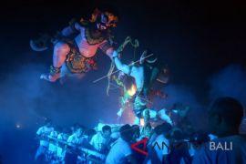 Ratusan warga Tegalalang ikuti parade ogoh-ogoh (video)