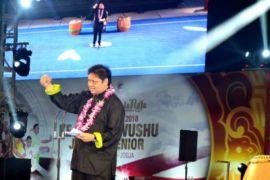 Airlangga Hartarto buka Kejurnas Wushu Piala Presiden