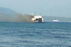 KMP Labrita Adinda terbakar di Selat Bali