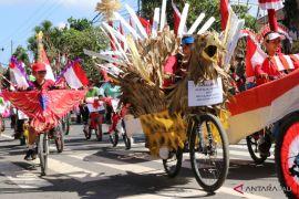 Ratusan pelajar Bangli ikuti pawai sepeda hias