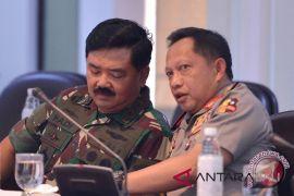 Kapolri-Panglima TNI rapat penutupan Asian Games