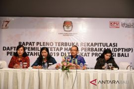 KPU Bali tetapkan 3.208.249 pemilih Pemilu 2019