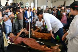 Presiden jenguk korban gempa di RS darurat