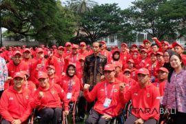 Presiden Jokowi lepas kontingen Indonesia