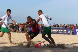 Tim sepak bola pantai Indonesia taklukan Timor Leste 5-2
