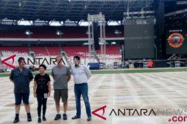 Jelang konser Guns N' Roses, rumput stadion GBK ditutup