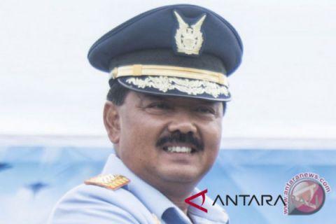 Rombongan Panglima TNI dikawal empat F-16 di atas Perairan Natuna