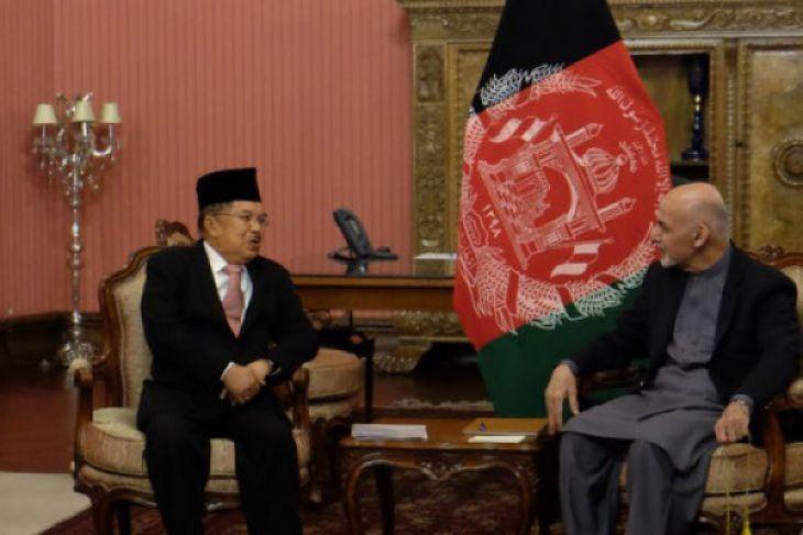 Wapres Kalla diterima Presiden Afghanistan di istana Delkussa