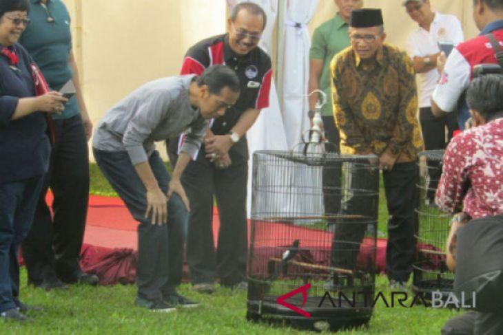 Presiden Jokowi berkumpul dengan kicaumania di Kebun Raya Bogor