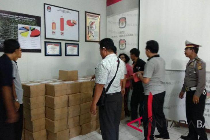 Surat suara Pilkada Bali sampai di Jembrana