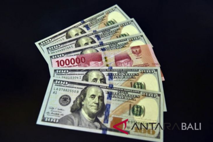 Rupiah Senin melemah jadi Rp14.579/dolar