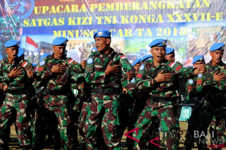 Pemberangkatan Pasukan PBB Afrika Tengah