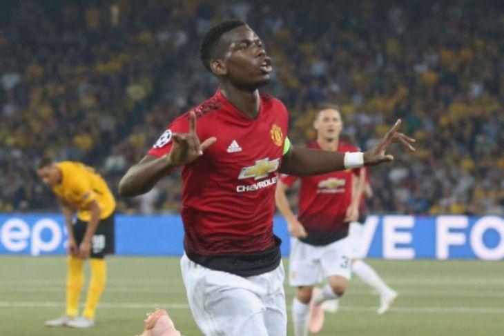Dwigol Pogba antar Manchester United tundukkan Young Boys 3-0