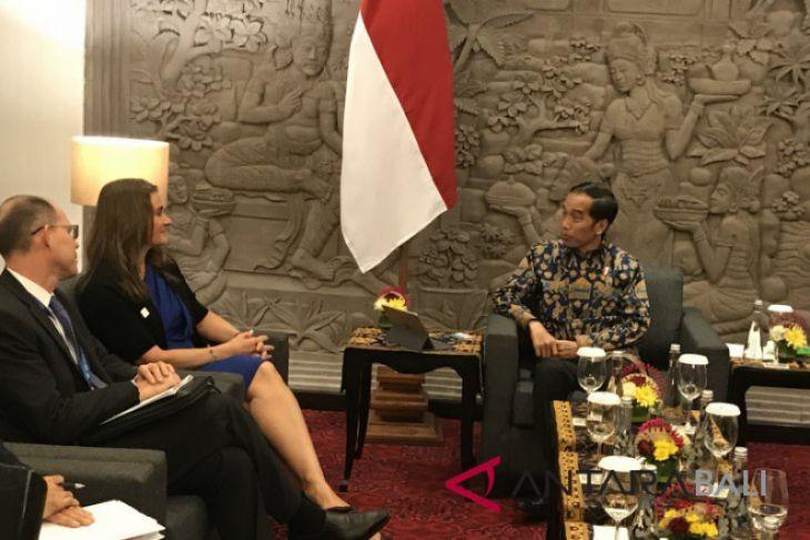 Presiden Jokowi bertemu Melinda Gates di Nusa Dua, Bali