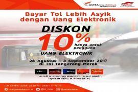 Pengelola Tangerang-Merak Berikan Diskon Pemegang E-Toll Card