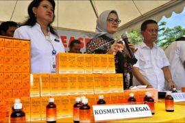 BPOM Sita Kosmetik Ilegal Senilai Rp5,4 Miliar