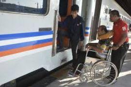 Arus Mudik - Stasiun Rangkasbitung Sediakan Fasilitas Penyandang Cacat