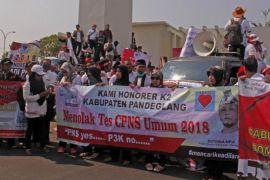 Honorer Banten Demo Tolak Tes  CASN Umum 2018