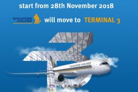 Singapore Airlines Pindah Ke Terminal 3 Mulai 28 November