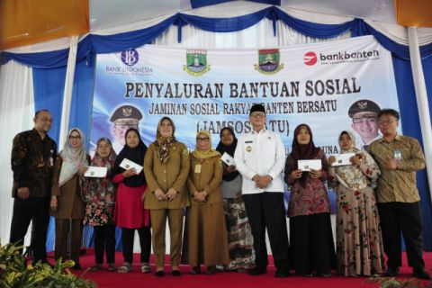 Bank Banten Lanjutkan Penyaluran Jamsosratu