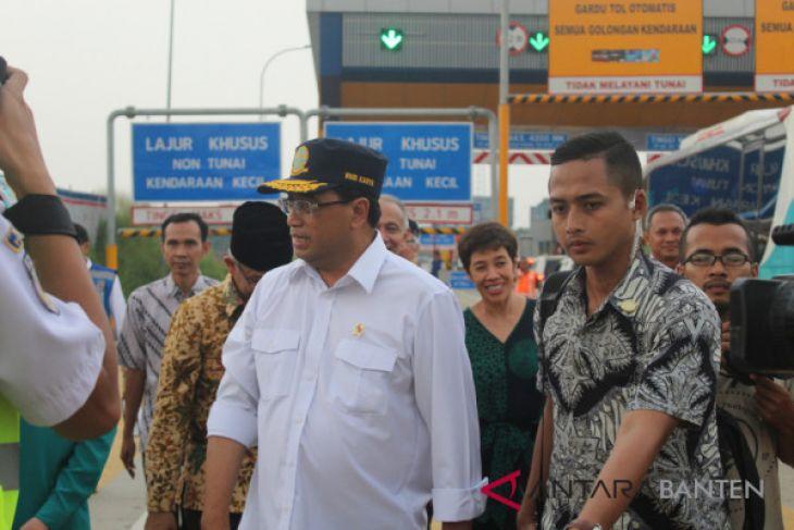 Menhub Luncurkan Ujicoba  Nopol Ganjil-Genap Tol Tangerang-Jakarta