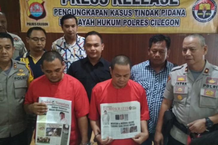 Polres Cilegon Tangkap Pelaku Pemerasan Mengaku Wartawan