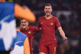 Gol Dzeko antar Roma ke perempat final Liga Champions