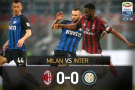 Gol Icardi dianulir, Derby Milan berakhir imbang