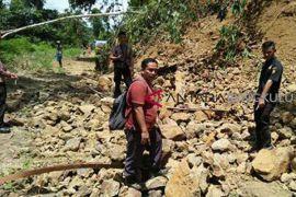 Longsor putuskan jalur transportasi Desa Lebongtandai