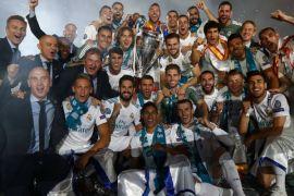 Real rayakan gelar Liga Chmapions dengan berpesta di Madrid
