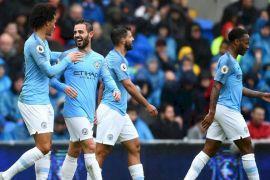 Manchester City pesta gol di markas Cardiff