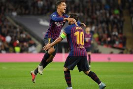 Messi sumbang dua gol saat Barcelona hajar Spurs