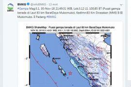 Gempa 5,1 SR kejutkan warga Mukomuko