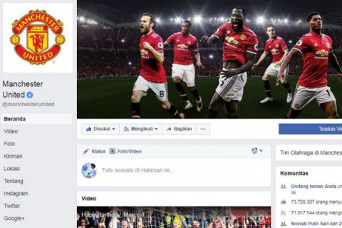 Manchester United masih menguasai media sosial