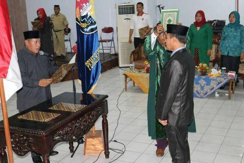 Bupati Mukomuko lantik penjabat sekretaris kabupaten