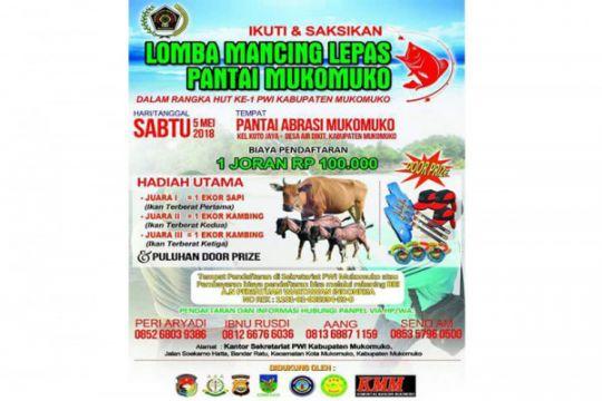 PWI Mukomuko gelar lomba mancing berhadiah sapi-kambing