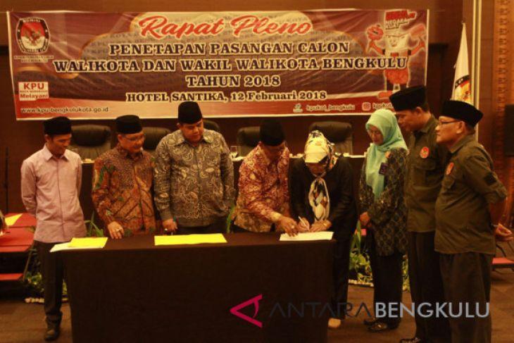 KPU Bengkulu tetapkan empat pasangan calon Pilkada